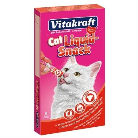 Vitakraft Cat Liquid Snack Wołowina + inulina 6 szt.