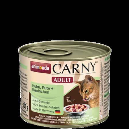 ANIMONDA Carny Adult puszka kurczak, indyk i królik 200 g