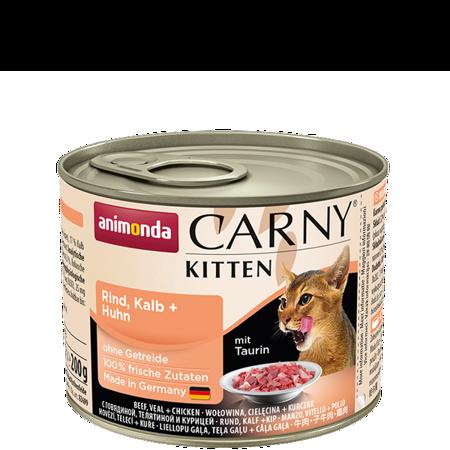 ANIMONDA Carny Kitten puszka wołowina, cielęcina i kurczak 200 g