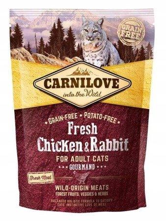 Carnilove Fresh Chicken & Rabbit - Gourmand 400 g, Kurczak i Królik
