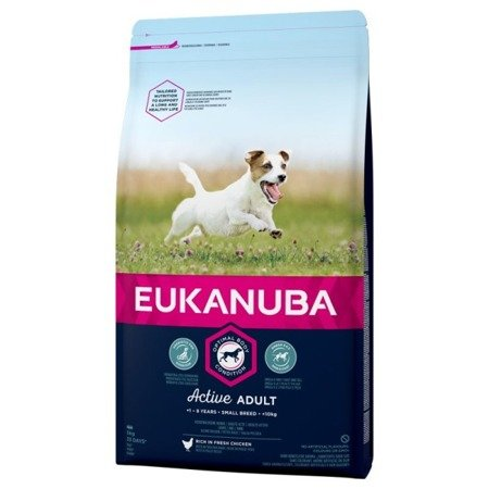 Eukanuba Adult Small Breeds Chicken 1 kg, małe rasy Kurczak