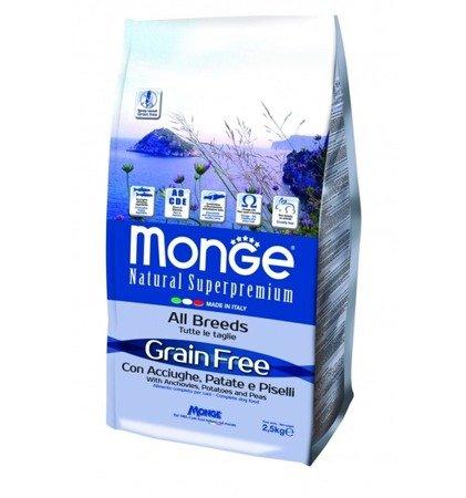 Monge Grain Free ANCHOIS Z ZIEMNIAKAMI I GROSZKIEM 12 kg