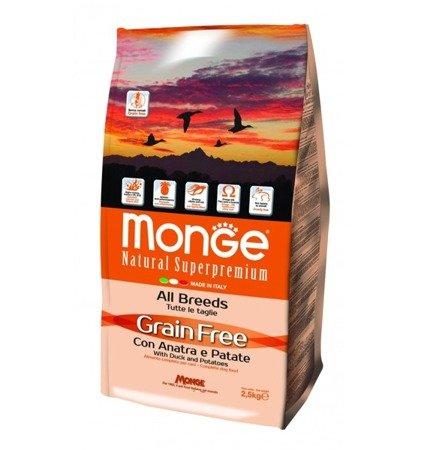 Monge Grain Free Adult Kaczka z Ziemniakami bezzbożowa 2,5 kg