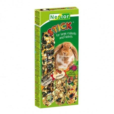 NESTOR KOLBA 3 w 1 dla dużych gryzoni i królików -  CHLEB ŚWIĘTOJAŃSKI, ORZECHY ZIEMNE, MARCHEWKA i BURAKI 175g
