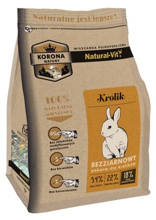 Natural-Vit Karma pełnoporcjowa dla KRÓLIKA 750 g Korona Natury