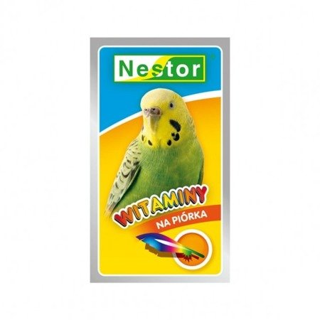 """Nestor witaminy """"na piórka"""" dla papużek falistych 20 g"""