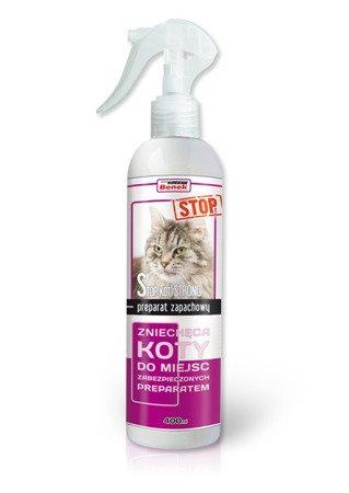 SUPER BENEK strong spray STOP-KOT Akyszek 400ml odstraszacz kotów