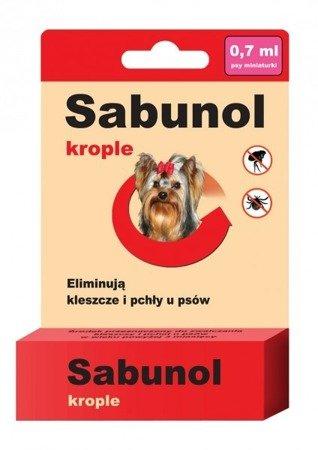 Sabunol Krople na Pchły i Kleszcze 0,7 ml dla Yorka i ras miniaturowych