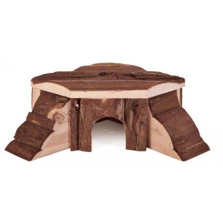 """Trixie Domek narożny dla chomika karłowatego i myszek 'Thordis"""", drewniany, 21×7×19 cm"""