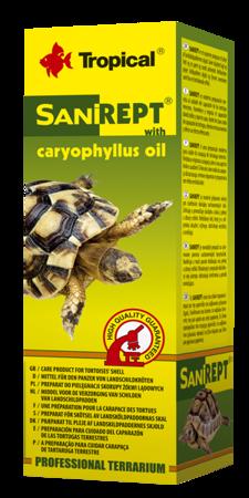 Tropical SANIREPT preparat z olejkiem goździkowym do pielęgnacji skorupy żółwi lądowych 15 ml