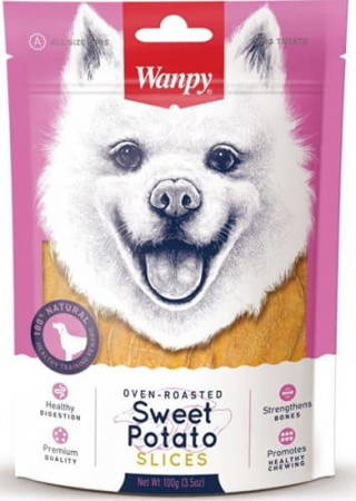 WANPY SWEET POTATO SLICES 100g Plasterki batatów - 100% wegetariańskie